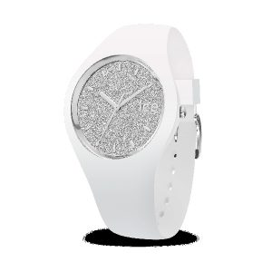 ICE WATCH Glitter White Silver Damenuhr 001344